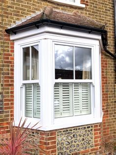 Lovely installation of the Charisma Rose, our most cost effective model of all the timber alternative Sash Windows in the Rose Collection. Upvc Sash Windows, Timber Windows, Sliding Windows, Bedroom Windows, Window Shutters, Windows And Doors, Bay Windows, Front Windows, Terrace House Exterior