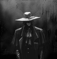 Amazing Hellsing art of Alucard! Anime No Sekai, Manga Anime, Manga Art, Hellsing Alucard, Hellsing Cosplay, Seras Victoria, Real Vampires, Fanart, Another Anime