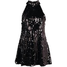 Petite Jasmine Sequin High Neck Swing Dress ($39) ❤ liked on Polyvore featuring dresses, vestidos, short dresses, high neck swing dress, sequin cocktail dresses, sequin mini dress and petite cocktail dress