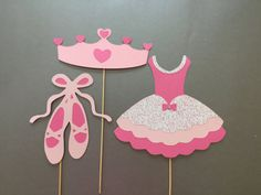 ballerina princess photo booth props baby girl photobooth props set of 3