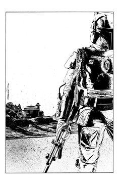 Great Boba Fett #Drawing #starwars