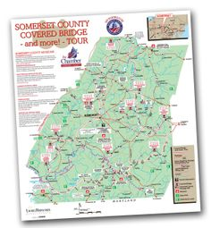Take a self-guided tour of Somerset County's 10 historic covered bridges. Get your map from the Somerset County Chamber of Commerce!