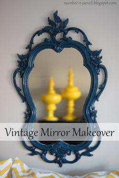 Vintage Mirror Makeover - No. 2 Pencil