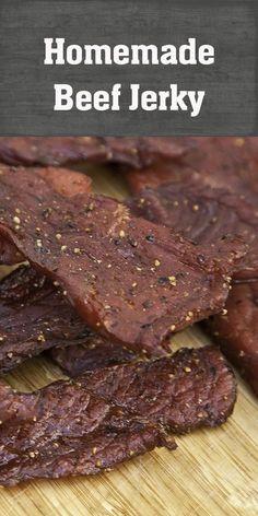 Homemade jerky recipe smoking meat jerky recipes, homemade b Traeger Recipes, Grilling Recipes, Traeger Jerky Recipe, Grill Meals, Chef Recipes, Meats To Grill, Healthy Recipes, Healthy Cake, Barbecue Recipes