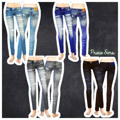 Skinny Jeans at Pnixie Sims via Sims 4 Updates