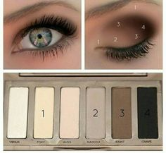 EYE MAKEUP GUIDE: Beautiful Eye Makeup – I have this eyeshadow palette (naked basics urban decay). EYE MAKEUP GUIDE: Beautiful Eye Makeup – I have this eyeshadow palette (naked basics urban decay). Makeup Guide, Makeup 101, Love Makeup, Skin Makeup, Makeup Ideas, Makeup Tutorials, Makeup Contouring, Eyeshadow Makeup, Smokey Eyeshadow