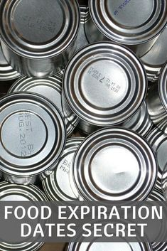 Canned food - Expiration Dates Don't Mean What You Think Here's What You Need To Know Emergency Food, Survival Food, Survival Prepping, Emergency Preparedness, Emergency Supplies, Survival Stuff, Survival Equipment, Survival Kits, Conservation