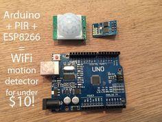 Arduino WiFi motion detector (PIR) that writes to SQL via cheap ESP8266 module