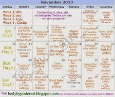 """November """"Fitness Challenge""""."""