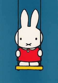 "Miffy (""Nijntje"") is a small female rabbit in a series of picture books drawn and written by Dutch artist Dick Bruna. The original Dutch name, Nijntje, means ""little rabbit"". The first Miffy book was produced in 1955, and almost 30 others have followed. In total they have sold over 85 million copies, and inspired a television series as well as items such as clothes and toys featuring the character. #greetingsfromnl"