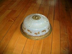 Vintage+Ceiling+Light+Shade+White+Glass+w/+by+RedRiverAntiques,+$55.00