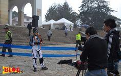 Alejandra Rivas, nuestra bloguera extrema habló con los medios antes de la competencia - Foto: Alejandra Rivas