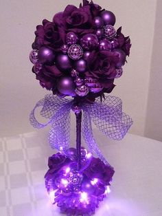 Christmas Table Decor Ideas - Perfect Purple - Click pic for 29 Christmas Craft Ideas