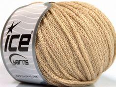 Limited Edition Fall-Winter Yarns Kışlık Yün Worsted Zincir Bej  İçerik 50% Yün 50% Akrilik Brand Ice Yarns Beige fnt2-51473