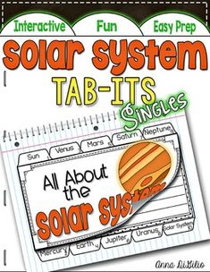 This Solar System Tab-Its booklet is engaging, fun, rigorous and fits…
