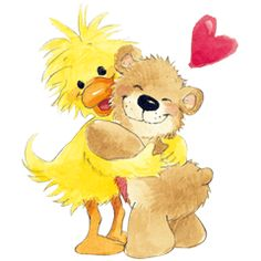 Loved all over the world for over 40 years The adorable characters from Suzy s Zoo are here Yes It s baby duck Witzy and teddy bear friend Boof # Zoo Clipart, Zoo Giraffe, Images Emoji, Teddy Bear Crafts, Cute Animal Illustration, Tatty Teddy, Cute Cards, Illustrations, Cute Cartoon