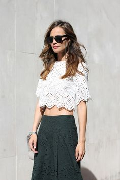 laser-cut top & skirt