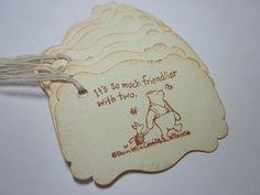 Handmade Gift Tags  Winnie the Pooh  Baby Birthday or by wkburden, $4.99