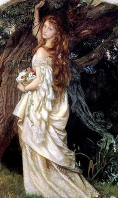 William Hughes - Ophelia ~ I love this picture & have had it hanging in all of the places I have lived :)