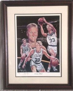 Larry Bird Lithograph - Limited Edition 882/900 SIGNED By Angelo Molino - COA  #LarryBird #Basketball