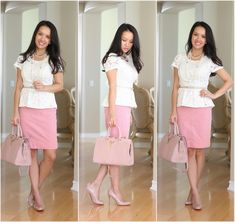 How adorable is Annie in this perfect blush outfit for the latest Petite Fashion Challenge? <3