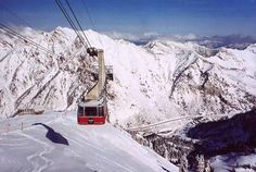 Snowbird, Utah...  This was where my kids learned to ski and where I had my major crash and burn at the top of the mountain...  My ski instructor actually invited us for supper that night!