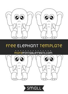 Free Elephant Template - Small