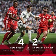 Champions League - Cuartos de Final (Vuelta): Real Madrid 4 - Bayern de Múnich 2 (6-3)