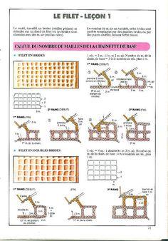 Artes by Cachopa - Croche & Trico: Croche - Croche filet - Passo a passo