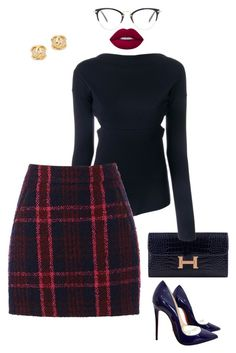 """""""Untitled #273"""" by sb187 ❤ liked on Polyvore featuring Hermès, Victoria Beckham, Oasis, Christian Louboutin, Lime Crime and Miu Miu"""