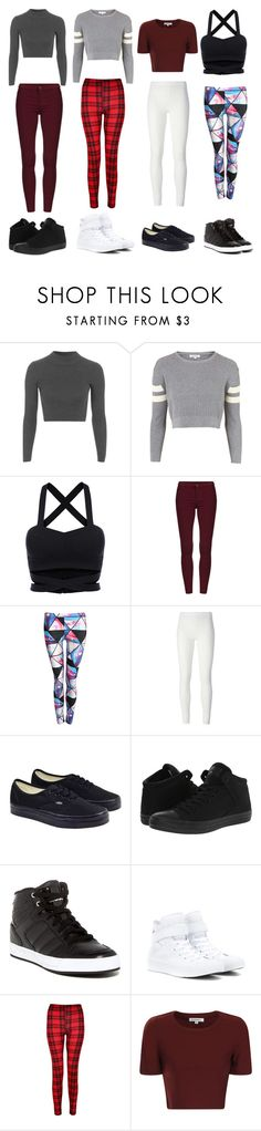 """Dance Clothes"" by tiara-drumsrock ❤ liked on Polyvore featuring Topshop, Pilot, Rick Owens Lilies, Vans, Converse, adidas, Glamorous, cute, dance and clothes"