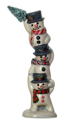 Snowman Trio from Vaillancourt Folk Art
