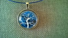 Blue necklace Blue jewelry Tree of life pendant Tree of Tree Of Life Necklace, Tree Of Life Pendant, Blue Necklace, Short Necklace, Pendant Necklace, Sister Gifts, Best Friend Gifts, Mother Gifts, Gifts For Friends