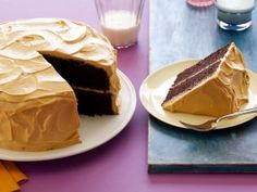 Devil's Food Chocolate Cake with Dulce De Leche Frosting : Recipes : Cooking Channel