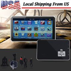 cool US 5 Inch TouchScreen Car GPS Navigator Navigation SAT NAV 4GB 128MB Free Maps - For Sale