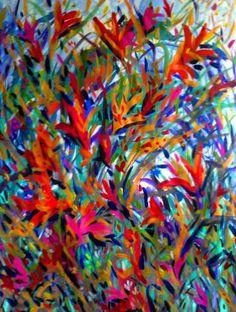 "Saatchi Art Artist Nada  Sucur Jovanovic; Painting, ""Moving of the flowers"" #art"