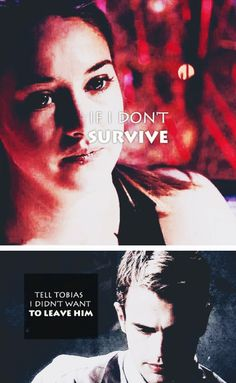 Omg when she died I cried so hard because I knew that Tobias would have to live with that for the rest of his life.
