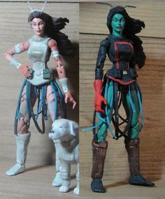 this is witherdust's work In progress picture of his Mantis and Cosmo (Guardians of the Galaxy) Custom Action Figure