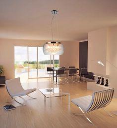 ACABADOS BRILLANTES  Modelos de líneas exuberantes con un acabado brillante en su interior. Este tipo de luminarias son una de las grandes apuestas de la temporada para iluminar la casa. Zuma Line | Ventas en Westwing