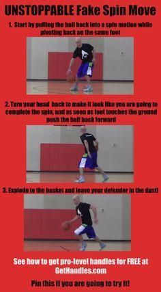UNSTOPPABLE Fake Spin Move #basketball #ballislife