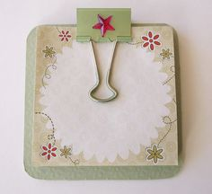 Post It Notes Holder Type Mini Clipboard Green by GiftsNThisNThat, $3.75