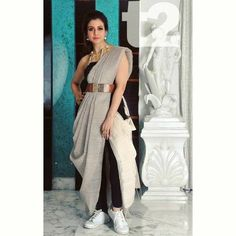 12 Innovative and Stylish Saree Draping Styles By Dolly Jain - Tikli Dress Indian Style, Indian Fashion Dresses, Indian Designer Outfits, Indian Fashion Modern, Indian Fashion Trends, Saree Fashion, Indian Outfits, Fashion Outfits, Trendy Sarees