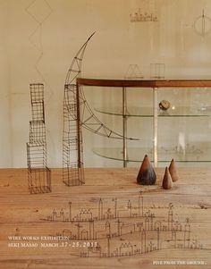 wire sculptures by Masao Seki