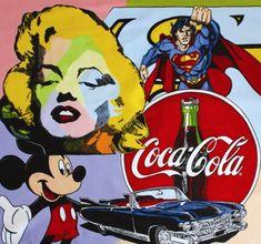 James Dean e la Statua della libertà, la Coca-Cola e Mickey Mouse, Marilyn Monroe, lo Zio Sam e la bandiera a stelle e strisce: ci sono alcuni dei più importanti miti e simboli della cultura made in Usa nelle opere di Steve Kaufman, esposte dal 15 gennaio al 15 marzo 2015 alla Barbara