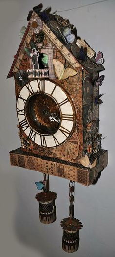 Alotered Cuckoo Clock by Anne-Marie Martin