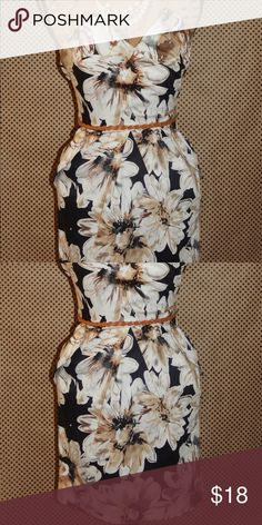 Floral print dress Great Condition Dresses Strapless