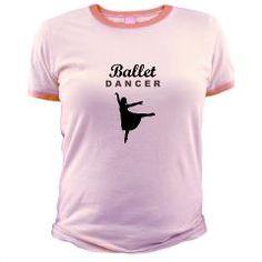 "Our ""Ballet Dancer silhouette"" jr. ringer tee in pink: http://www.cafepress.com/dancerspace.946571969"