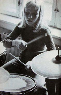 modrules:  sixties drummer girl