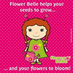 It's nearly #spring! YAY #Flower Belle helps your #seeds to grow... & your flowers to bloom! http://magicbelles.com/meetthebelles/flowerbelle.html