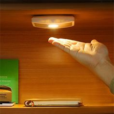 LED Night Light Exquisite Wireless Wide Angle Cabinet Lamp Body Induction Motion Sensor